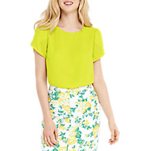 Buy Oasis Petal Sleeve T-Shirt, Yellow Online at johnlewis.com