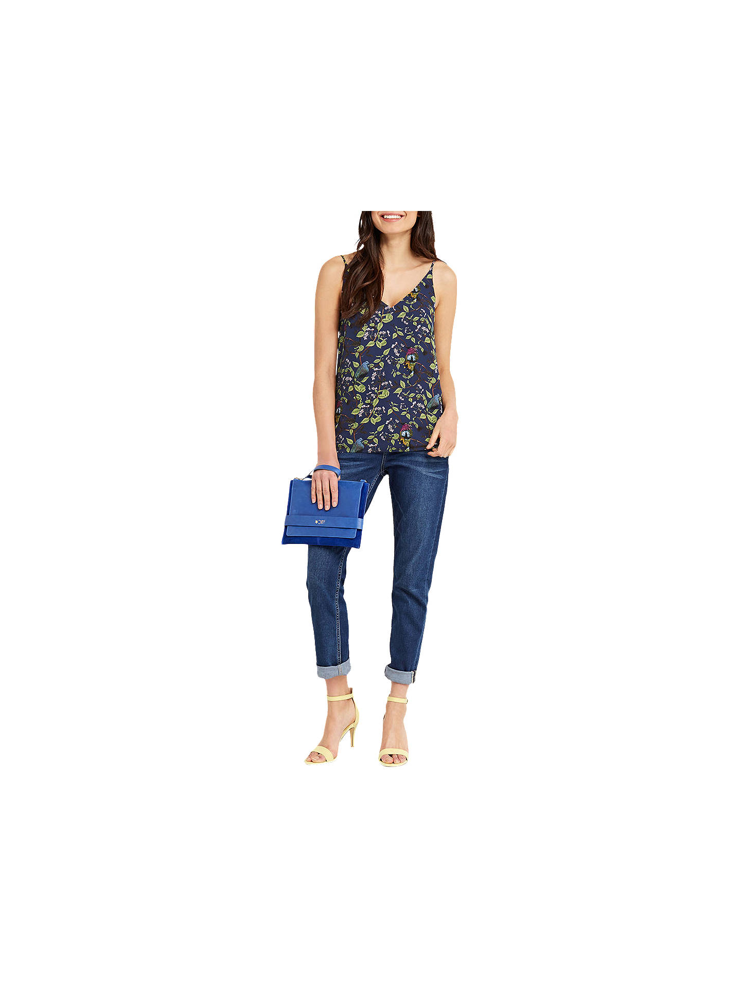 BuyOasis Topaz Bird Print Cami, Blue, 8 Online at johnlewis.com