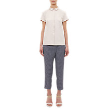 Buy Ted Baker Colour By Numbers Fylie Pencil Print Cross Over Trousers, Navy Online at johnlewis.com