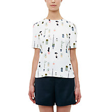 Buy Ted Baker Colour By Numbers Wepster Pleat Back T-Shirt, Ivory Online at johnlewis.com