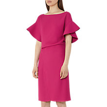 Buy Reiss Manila Peplum-Sleeve Dress, Fuchsia Online at johnlewis.com