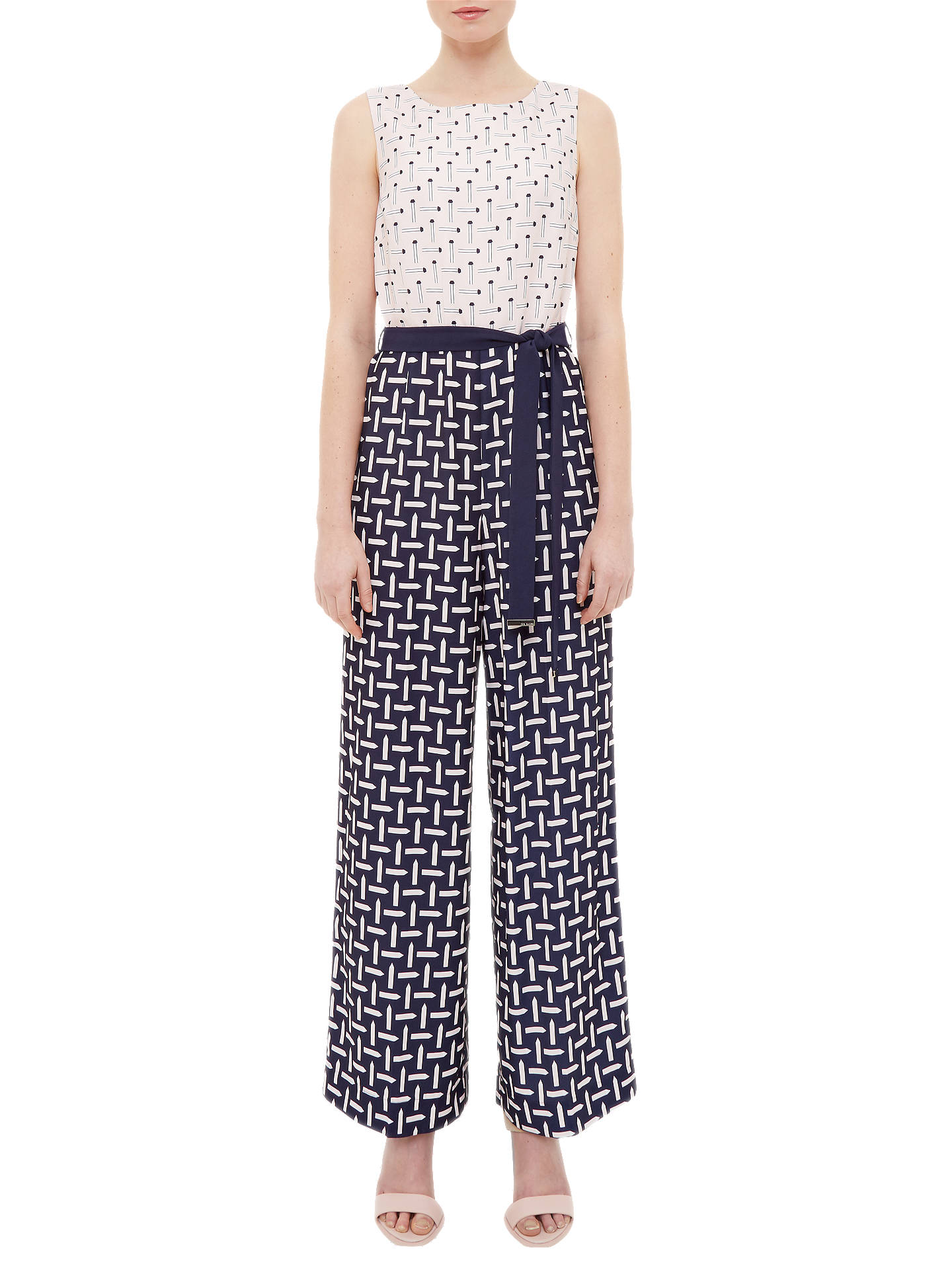 b651dfefbb1 Buy Ted Baker Colour By Numbers Finir Pencil Print Jumpsuit