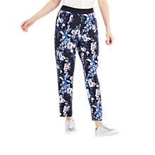 Buy Oasis Tropical Orchid Soft Trousers, Navy Online at johnlewis.com