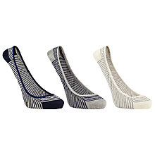 Buy John Lewis Low Rise Ballerina Sock Liners, Pack of 3, Multi Online at johnlewis.com