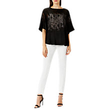 Buy Coast Mariah Burnout Top, Black Online at johnlewis.com