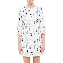 Buy Ted Baker Colour By Numbers Giley Cactus Print Shift Dress, Ivory Online at johnlewis.com