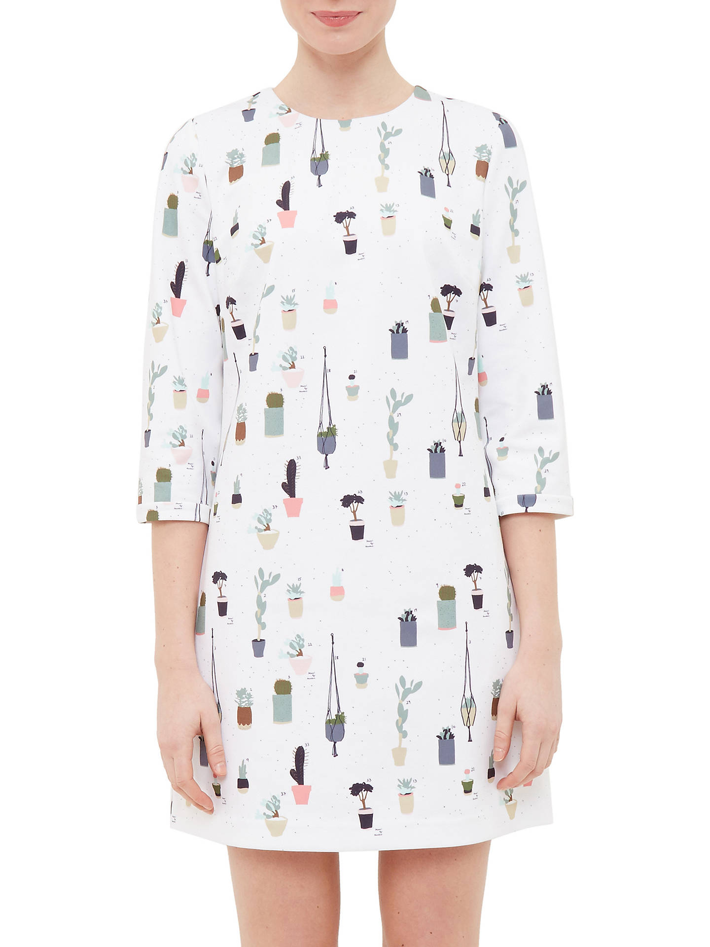 71a1b992a053 Buy Ted Baker Colour By Numbers Giley Cactus Print Shift Dress