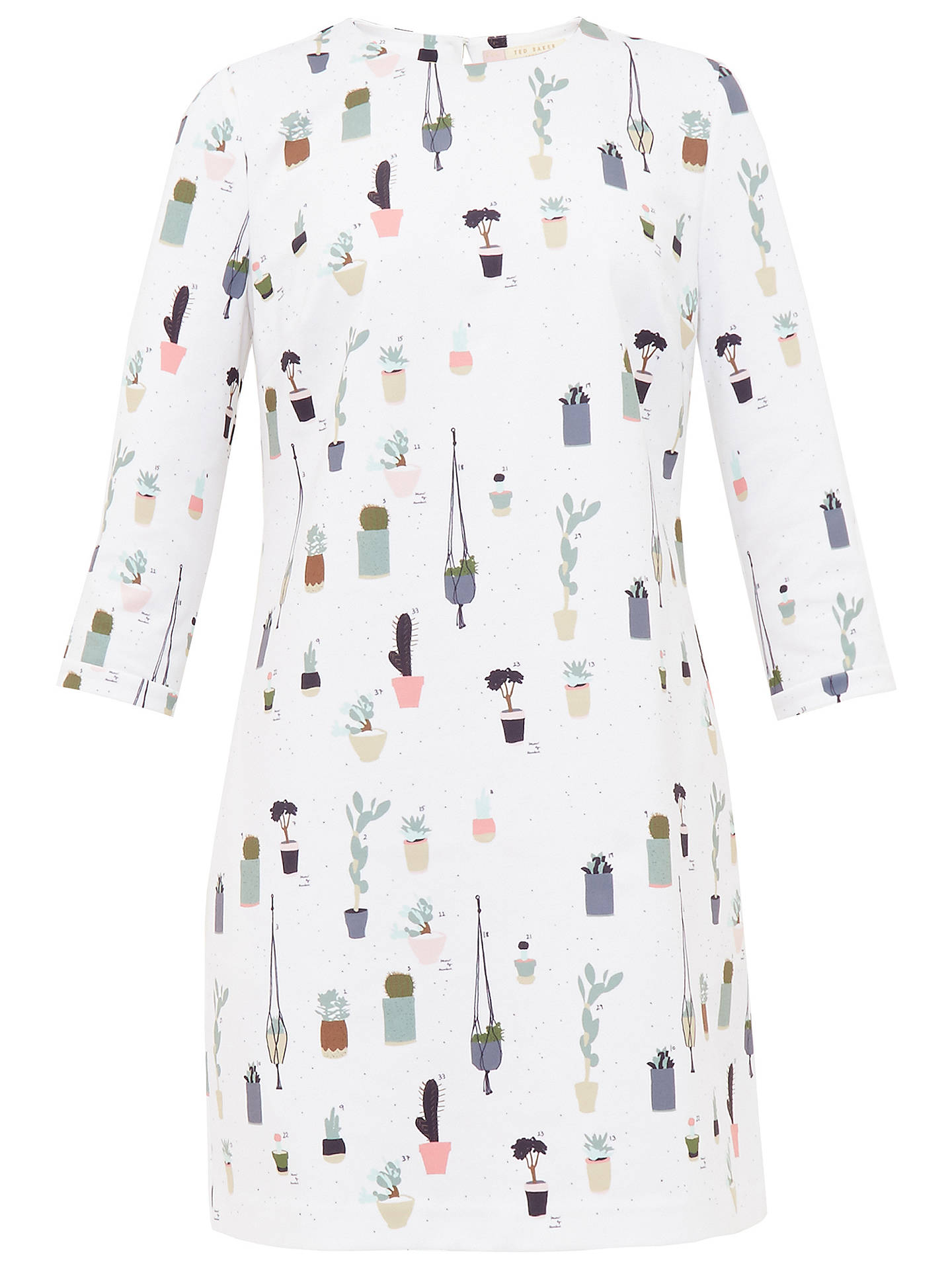 58b93cd89df3 ... Buy Ted Baker Colour By Numbers Giley Cactus Print Shift Dress