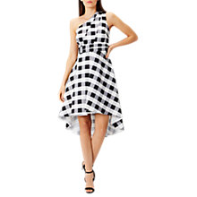 Buy Coast Nina Gingham Dress, Black/White Online at johnlewis.com