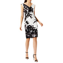 Buy Coast Lewes Printed Shift Dress, Black/White Online at johnlewis.com