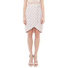 Buy Ted Baker Colour by Numbers Crossover Front Skirt, Nude Pink Online at johnlewis.com