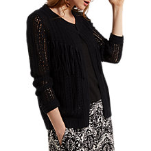 Buy White Stuff Sombrero Fringe Cardigan, Black Online at johnlewis.com