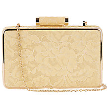 Buy Oasis Lace Box Clutch, Bright Yellow Online at johnlewis.com