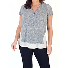 Buy Chesca Stand Collar Print Top, Ivory/Navy Online at johnlewis.com