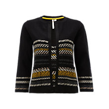Buy White Stuff Chia Stripe Jacket, Black Online at johnlewis.com