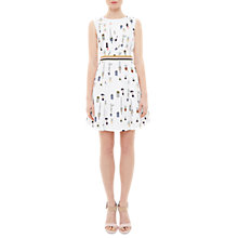 Buy Ted Baker Colour By Numbers Tetro Cactus Print Sleeveless Dress, Ivory Online at johnlewis.com