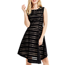 Buy Oasis Stripe Burnout Dress, Black Online at johnlewis.com