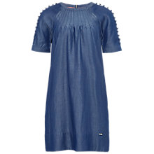 Buy Ted Baker Colour By Numbers Byas A-Line Button Detail Dress, Mid Wash Online at johnlewis.com