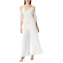 Buy Coast Fiji Lace Cold Shoulder Top, Ivory Online at johnlewis.com