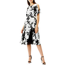 Buy Coast Lewis Print Elina Dress, Black/White Online at johnlewis.com