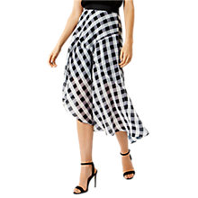 Buy Coast Riki Gingham Skirt, Black/White Online at johnlewis.com