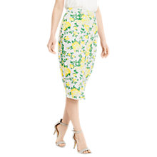 Buy Oasis Summer Blossom Pencil Skirt, Multi Online at johnlewis.com