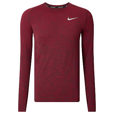 Product photo of Nike drifit knit long sleeve running top