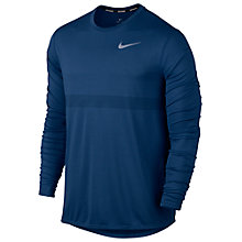 Buy Nike Zonal Cooling Relay Long Sleeve Running Top, Blue Online at johnlewis.com