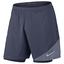Buy Nike Flex 2-in-1 Running Shorts, Blue Online at johnlewis.com