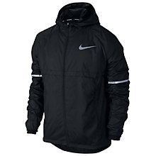 Buy Nike Shield Hooded Men's Running Jacket, Black Online at johnlewis.com