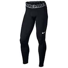 Buy Nike Pro Warm Training Tights, Black/Grey Online at johnlewis.com