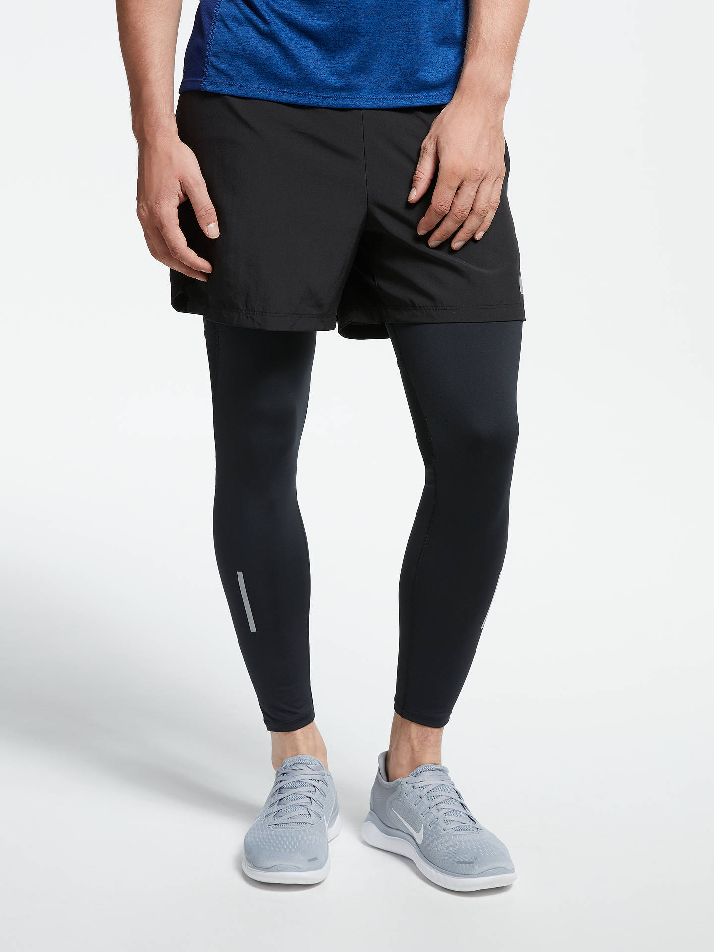 4a9e25a011390 Buy Nike Power Tech Running Tights, Black, S Online at johnlewis.com ...