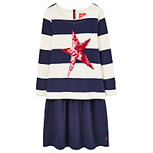 Buy Little Joule Girls' Layered Sweater Dress, Navy Online at johnlewis.com