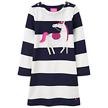 Buy Little Joule Girls' Applique Horse Stripe Dress Online at johnlewis.com