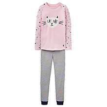 Buy Little Joule Children's Cat Nap Pyjamas, Rose Pink Online at johnlewis.com