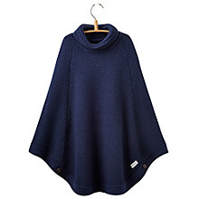 Buy Little Joule Girls' Knit Poncho, French Navy Online at johnlewis.com