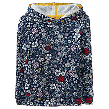 Buy Little Joule Girls' Overhead Hooded Sweatshirt, Navy Online at johnlewis.com