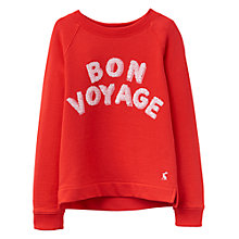 Buy Little Joule Girls' Bon Voyage Sweatshirt, Red Online at johnlewis.com