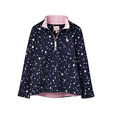 Buy Little Joule Girls' Star Print Sweatshirt, Navy Online at johnlewis.com