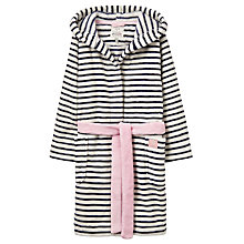 Buy Little Joule Children's Striped Dressing Gown, French Navy Online at johnlewis.com