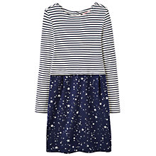 Buy Little Joule Girls' Stripe Star Print Cocoon Dress, Navy Online at johnlewis.com