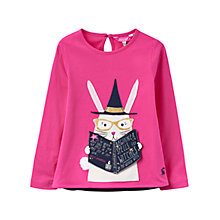 Buy Little Joule Girls' Rabbit Applique T-Shirt, Pink Online at johnlewis.com