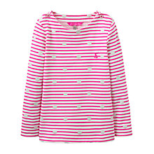Buy Little Joule Girls' Stripe Spot Print T-Shirt, True Pink Online at johnlewis.com