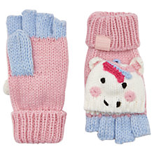 Buy Little Joule Children's Unicorn Mittens., Cream Online at johnlewis.com