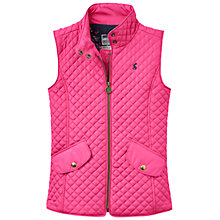 Buy Little Joule Girls' Quilted Gilet, Fuschia Pink Online at johnlewis.com