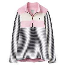 Buy Little Joule Girls' Stripe Print Sweatshirt, Rose Pink Online at johnlewis.com