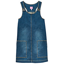 Buy Little Joule Girls' Denim Pinafore Dress, Blue Online at johnlewis.com