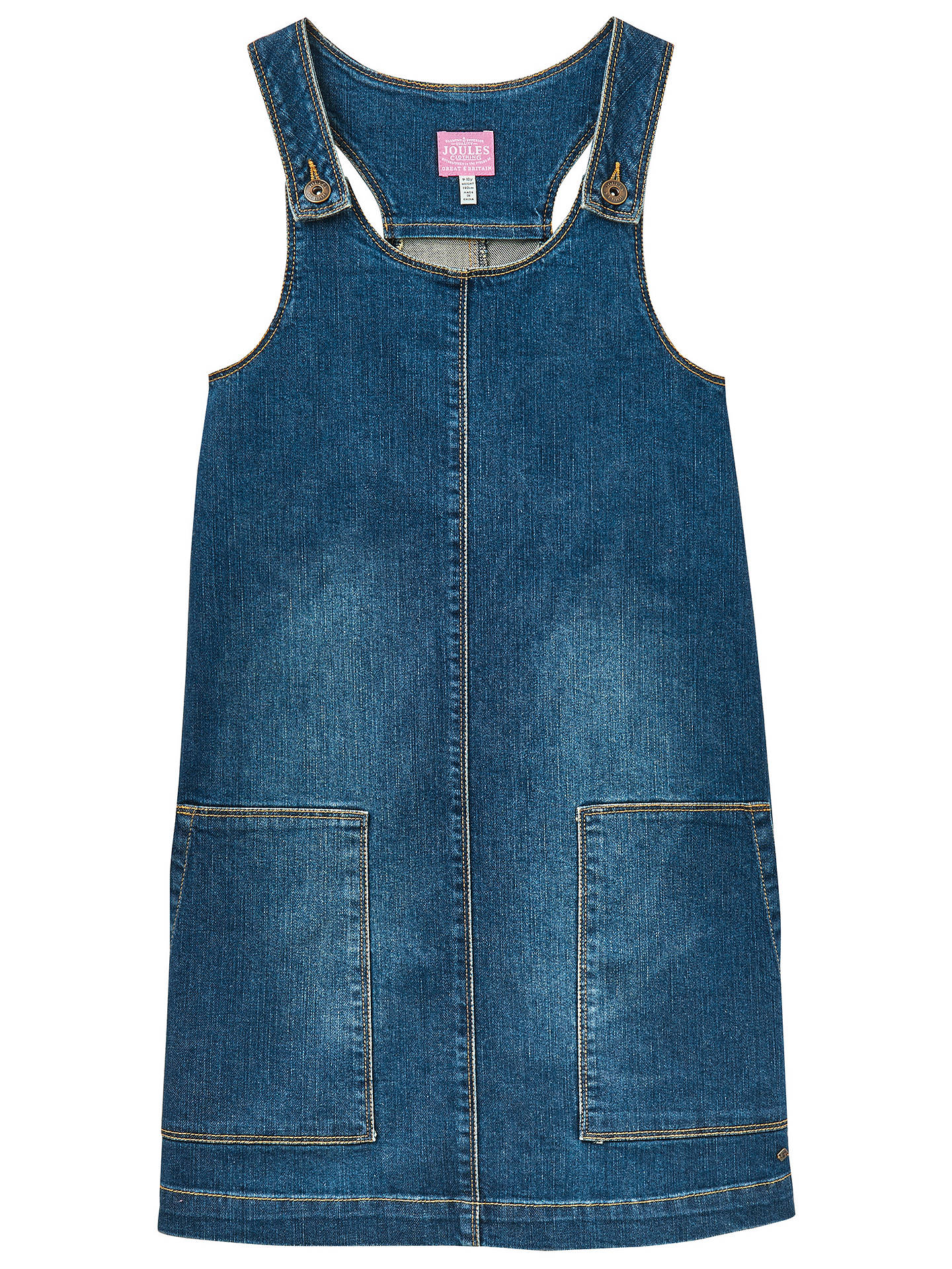 fd24c5fd4773 Buy Little Joule Girls' Denim Pinafore Dress, Blue, 3 years Online at  johnlewis ...
