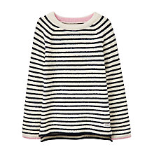 Buy Little Joule Girls' Chenille Striped Jumper Online at johnlewis.com