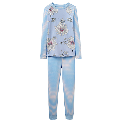 Product photo of Little joule children s peony print pyjamas sky blue
